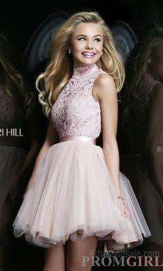 Short Sherri Hill 21345 High Neck Prom Dress