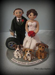 Wedding+Cake+Topper+Custom+Cake+Topper+by+trinasclaycreations,+$200.00