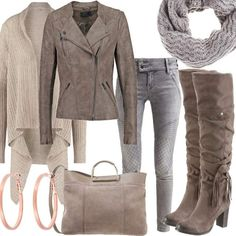Estelle Taupe   Stylaholic #fashion #style #outfit #look #dress #mode #sexy #trend #luxury