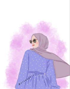 Paris Photography, Tumblr Photography, Phone Wallpaper Images, Cartoon Wallpaper, Little Girl Photography, Hijab Drawing, Friend Cartoon, Islamic Cartoon, Anime Muslim