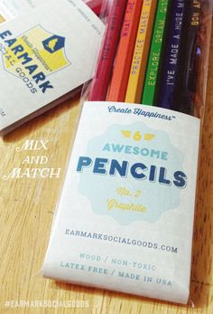 Over 30 pencils to choose from