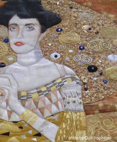 Quilt Inspiration: World Painter's Challenge / 1 Gustav Klimt by Jae McDonald, Eugene Oregon