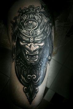 Helmet Tattoo, Samurai Tattoo, Tattoo Photos, Skull, Tattoos, Tatuajes, Tattoo, Tattos, Skulls