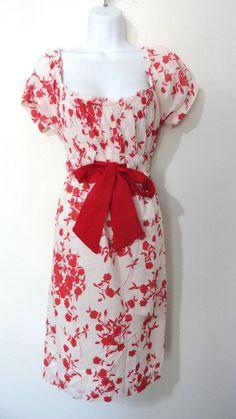 Anthropologie Velvet Graham Spencer Peasant Boho Floral Dress Sundress M Medium #Velvet #Sundress #Cocktail