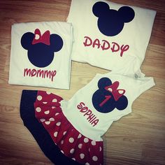 FAMILY Minnie Mouse Mickey Mouse Shirt by GraceMadisonDesigns