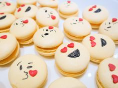 Passion Fruit Emoticon Macarons
