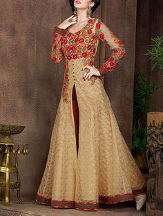 b169a0637d Buy Durga Emporio beige net Online, , LimeRoad Indian Salwar Kameez, Cotton  Salwar Kameez
