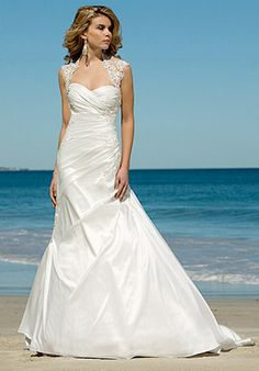 Wedding dresses beach ceremony on pinterest beach for Wedding dress for beach ceremony