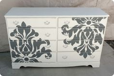 Damask dresser-would go very well with our lamps