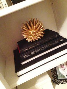 book shelf decor