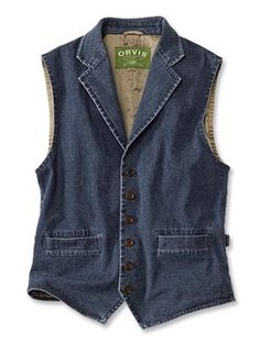Washed-Denim Vest from #Orvis