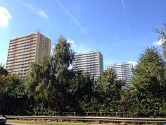 Marching tower blocks in Ponders End, north east London