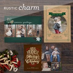 Charmingly rustic Christmas cards from Cardstore