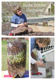 Soda bottle compost