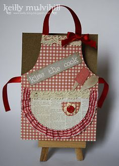 handmade cards with a cooking apron on - Google Search