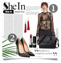 """""""SheIn ♥"""" by ajla55 ❤ liked on Polyvore featuring Oris, Christian Louboutin, Christian Dior and Rosantica"""