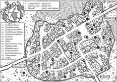 Toechter der Rache - Shamaham by SteffenBrand on DeviantArt Fantasy City Map, New Fantasy, Medieval Fantasy, Cartographers Guild, Village Map, Adventure Map, Dungeon Maps, Fantasy Setting, Geek Gear