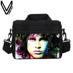 VEEVANV Brand 2017 The Doors 3D Print Food Bags Men s The Doors Image Lunch  Box PU cbb5416f09
