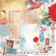 Christmas Hope Collection Super Mini digital scrapbooking kit, by Cindy Rohrbough: Scrap Girls
