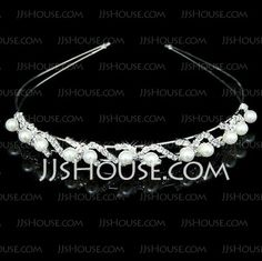 Headpieces - $14.99 - Gorgeous Clear Crystals And Imitation Pearls Bridal Tiara/ Headpiece (042012941) http://jjshouse.com/Gorgeous-Clear-Crystals-And-Imitation-Pearls-Bridal-Tiara--Headpiece-042012941-g12941