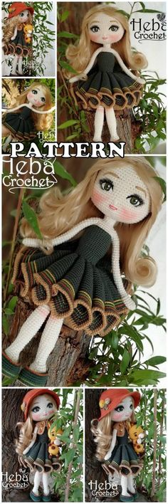 In this article I will share with you amigurumi fairy tale doll free crochet pattern. We always keep you up-to-date with Amigurumi. Crochet Amigurumi Free Patterns, Crochet Doll Pattern, Crochet Dolls, Free Crochet, Häkelanleitung Baby, Lol Dolls, Amigurumi Doll, Stuffed Toys Patterns, Doll Patterns