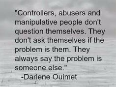 Take responsibility for what you have done and don't blame others...