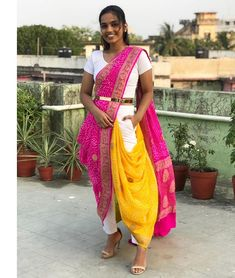 #sareestory#indianwear #india #ethnicwear #ootd #drapedivaa #celebritydrapes #dollyjaindraping #drapingbydolly # dollyjainbrides #perfectpleats #sareewearing #traditionals #contemporylook  #diy  #indianblogger #styleblogger #sareeblogger #diy #dupatta #lehenga #sareetwitter #sareesaga Indian Western Dress, Indian Dress Up, Western Dresses, Saree Wearing Styles, Saree Styles, Indian Designer Outfits, Indian Outfits, Modern Saree, Bridal Silk Saree