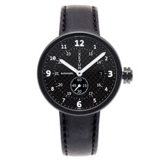 Tyndall - PVD Black Carbon-Leather Black