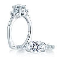 Check out our website  http://www.diamondconnectiononline.com/ #TheDiamondConnection will build your own customized ring to reflect your unique style & personality. #EngagementRing Brand: #AJaffe Ring Style: MES127
