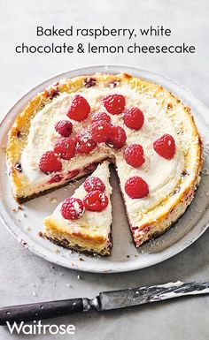 Mary Gwynn's baked raspberry, white chocolate & lemon cheesecake is the perfect finishing touch to any summer party or barbecue. Tip: make the cheesecake a day ahead to allow the flavours to develop, then chill until ready to serve. See the full recipe on the Waitrose website.