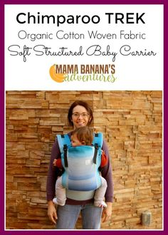 Chimparoo TREK organic cotton baby carrier is made from woven wrap fabric in Canada! A woven wrap conversion baby carrier at a canvas price, if you're not babywearing with one you will want to! Soft right out of the package but supportive this is a really beautiful baby carrier.