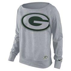 Nike Green Bay Packers Ladies Wildcard Epic Performance Sweatshirt - Ash