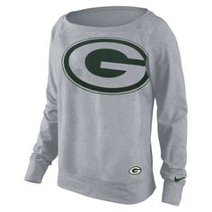 Nike Green Bay Packers Ladies Wildcard Epic Performance Sweatshirt - Ash