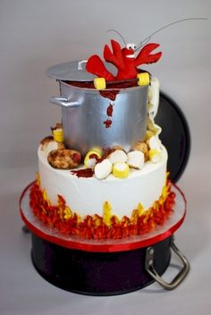 Crawfish Boil Birthday Cake By cupadeecakes on CakeCentral.com