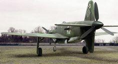 Rear view of the Dornier DO 335 A-1 Pfeil (Arrow) fighter.