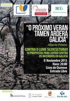 O próximo verán tamén arderá Galicia @ Liceo - Ourense conferencia palestra silvicultura fuego incendios ecología ecoloxía