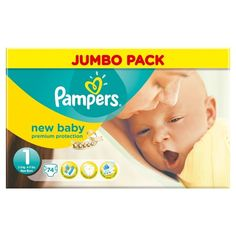 BARGAIN Pampers New Baby Size 1 (Newborn) Jumbo Nappies – Pack of 74 JUST £5.84 At Amazon - Gratisfaction UK Flash Bargains #flashbargains #gratbaby