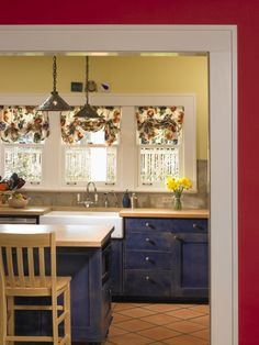 Saltillo Tile Kitchens And Blue Counter Tops