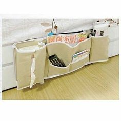 ~*~GREAT FOR A TINY HOME BED~*~ Durable PVC Japan House Keeping Bed Organiser Bedside Hanging Storage Bag