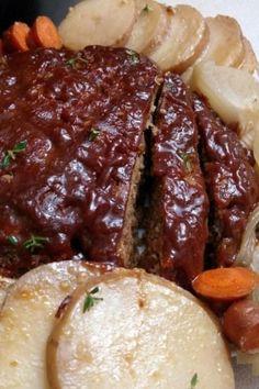 Slow Cooker Dressing 21 Day Fix, Meatloaf Recipes, Crockpot Recipes, Dinner Crockpot, Stuffing Recipes, Paleo, Meat Loaf, Slow Cooker Beef, Crock Pot Cooking