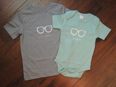 Be Smart Bodysuit and Toddler Tee by AuroraJanesBoutique on Etsy