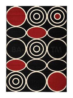 Loft Black And White Circles Rug Rugs