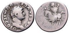 AR Denarius. Domitian, as Caesar, Rome. 73-75 AD. 20mm, 2,91g, 1h. RIC 680 (Vespasian). Good F. Starting price (2.7.2016): 48 EUR. Unsold.