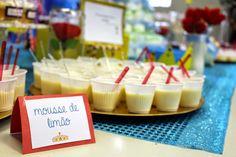 Chá de Fraldas ~ Menino ~ Pequeno Príncipe ~ Chá de Fraldas no Trabalho ~ DIY ~ Faça Você Mesma ~ Mousse de Limão