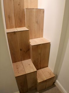 Alternate tread stairs - SERIOUSLY considering these   -  To connect with us, and our community of people from Australia and around the world, learning how to live large in small places, visit us at www.Facebook.com/TinyHousesAustralia or at www.tumblr.com/blog/tinyhousesaustralia