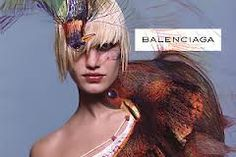 -Inez van Lamsweerde Balenciaga Spring 2001 campaign with Delfine Bafort..