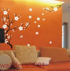 Cherry Blossom- Removable Vinyl Decals, wall stickers, Graphic, wall decor. $58.00, via Etsy.