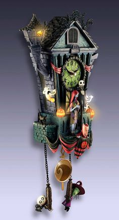 Nightmare Before Christmas Cuckoo clock ... are you kidding me, I need this in my house!!!