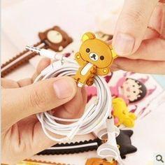 200PCS/lot Cartoon Bear Giraffe Fixed Line Clamp Cable Wire Organizer Cable drop Clip Tidy Cord Holder Bobbin Winder
