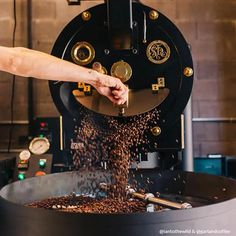 The — Our 25 lb Coffee Roaster Coffee Brewer, Coffee Cups, Coffee Shop Photography, Autumn Photography, Coffee Process, Coffee Shop Logo, Coffee Shot, Coffee Service, Coffee Roasting
